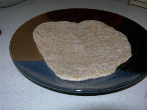 yay, a done tortilla!